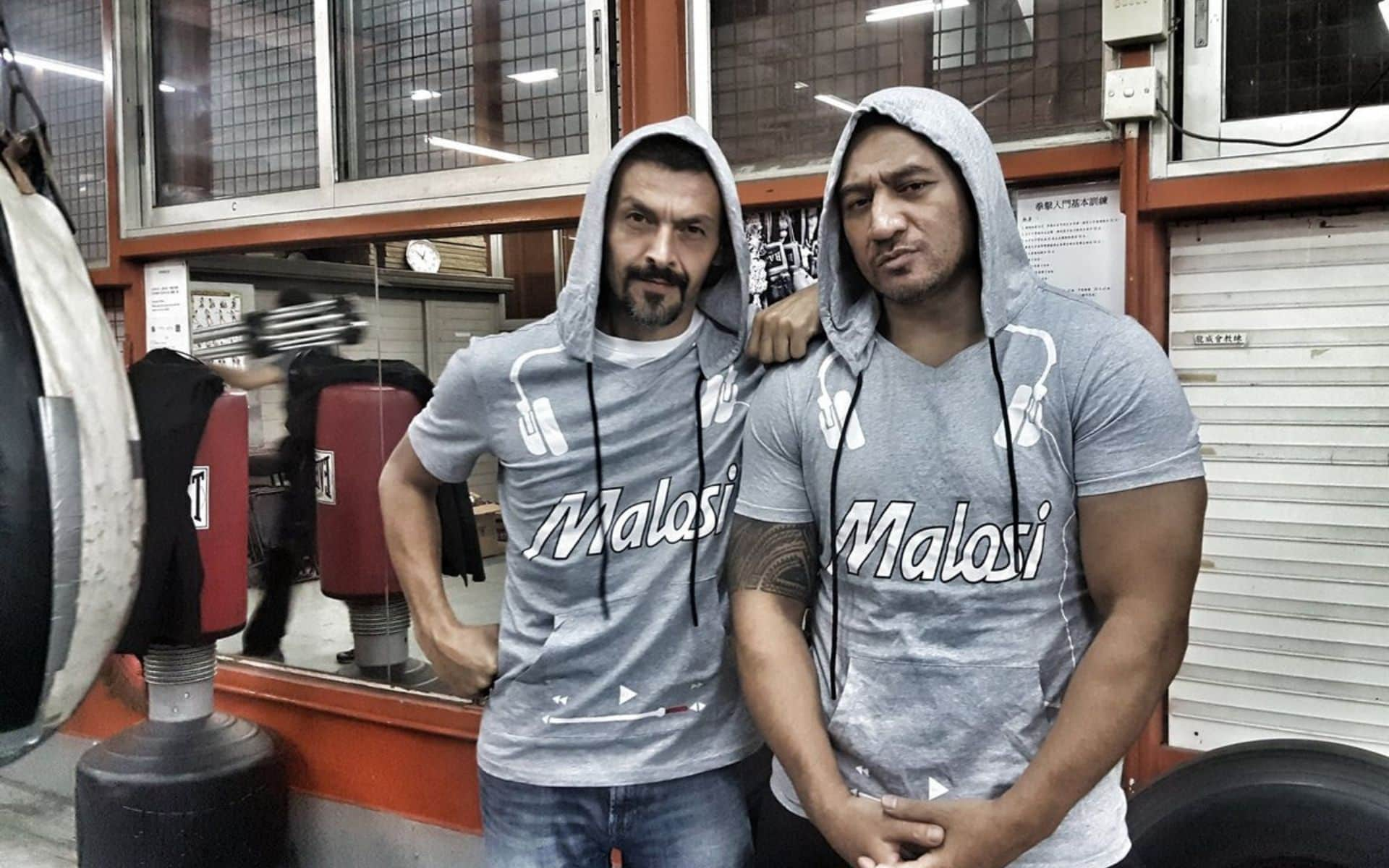 Philippe Joly with Semiquaver Iafeta wearing Malosi apparel