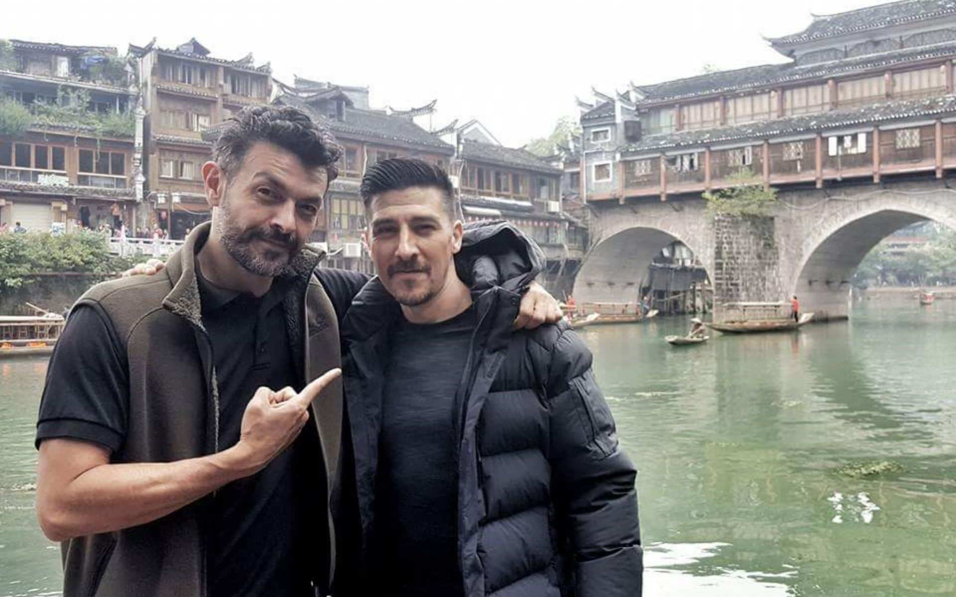 Philippe Joly with David Belle in China