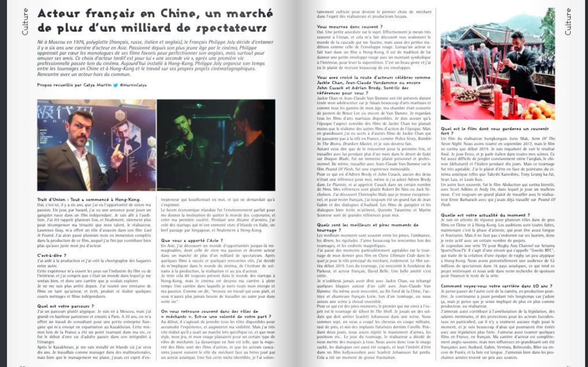 Philippe Joly - Interview in Trait d'Union Magazine