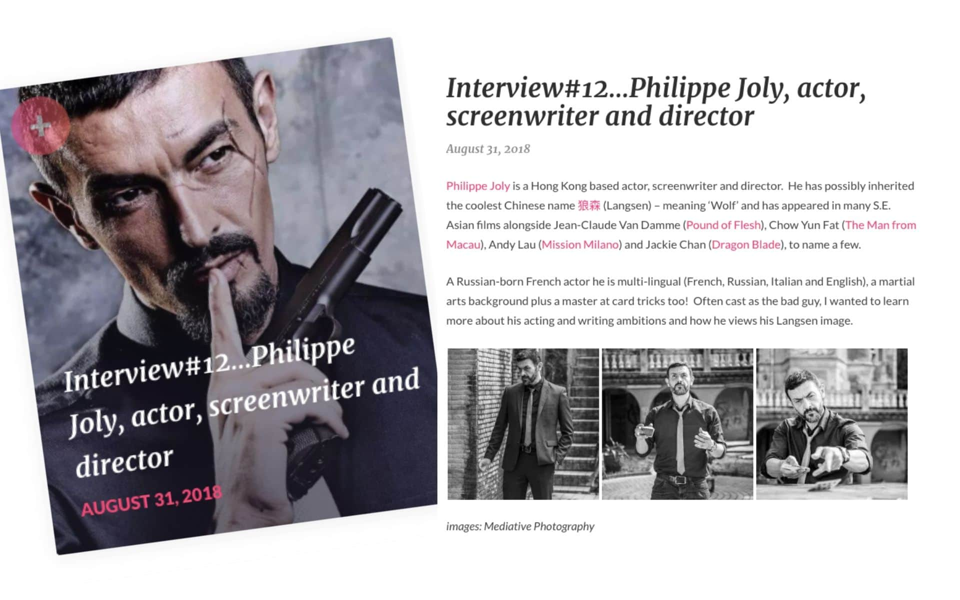 Philippe Joly - Interview in The Mighty Dragon blog
